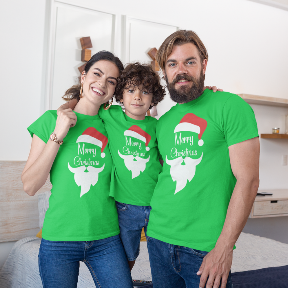 Vianočný set v zelenej farbe Merry Christmas Beard