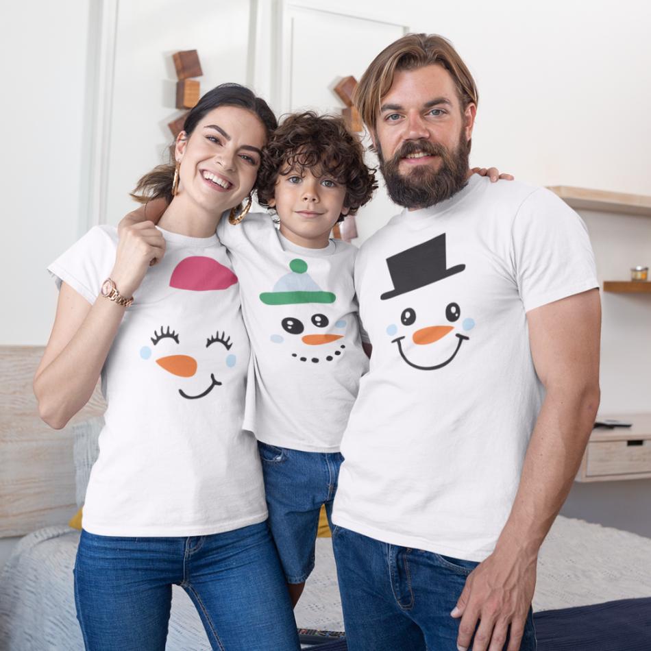Vianočný set v bielej farbe Merry Christmas Happy Family