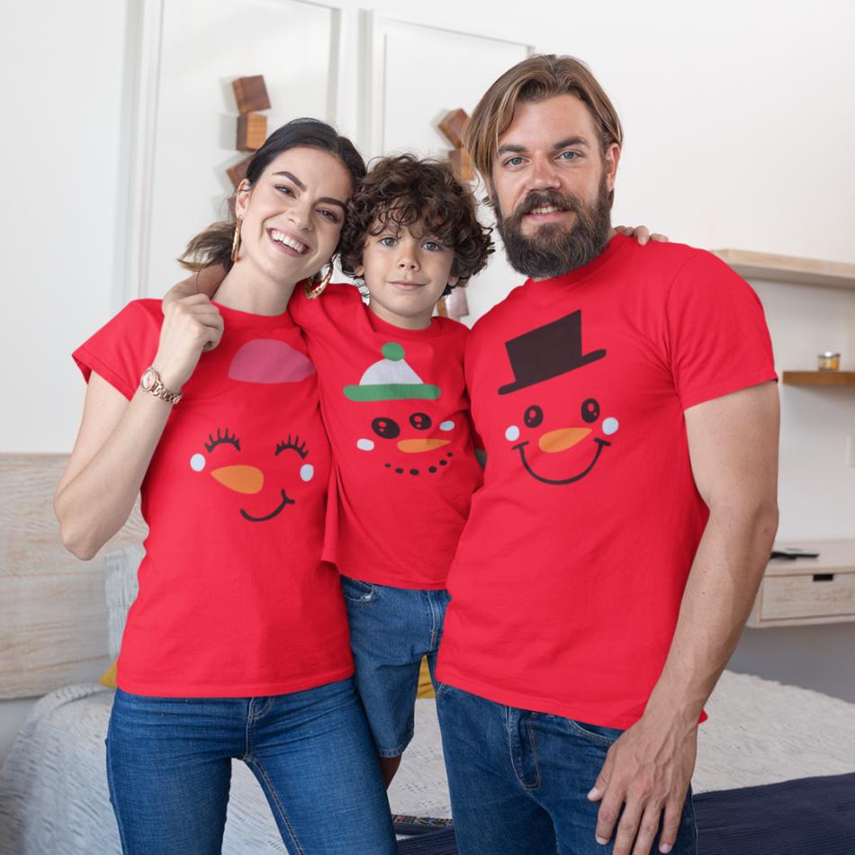 Vianočný set v červenej farbe Merry Christmas Happy Family