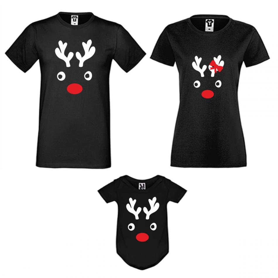 Vianočný set v čiernej farbe Christmas Elk