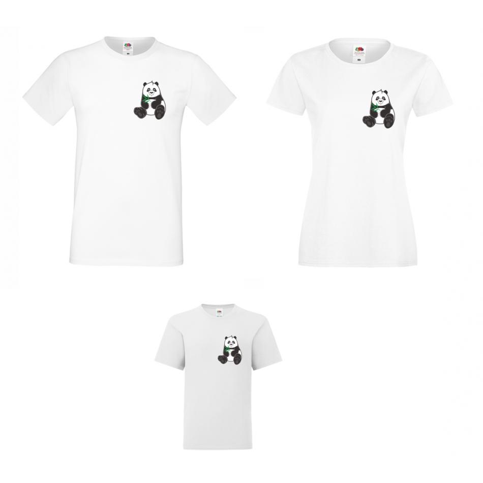 Rodinný set tričiek Pocket Pandas
