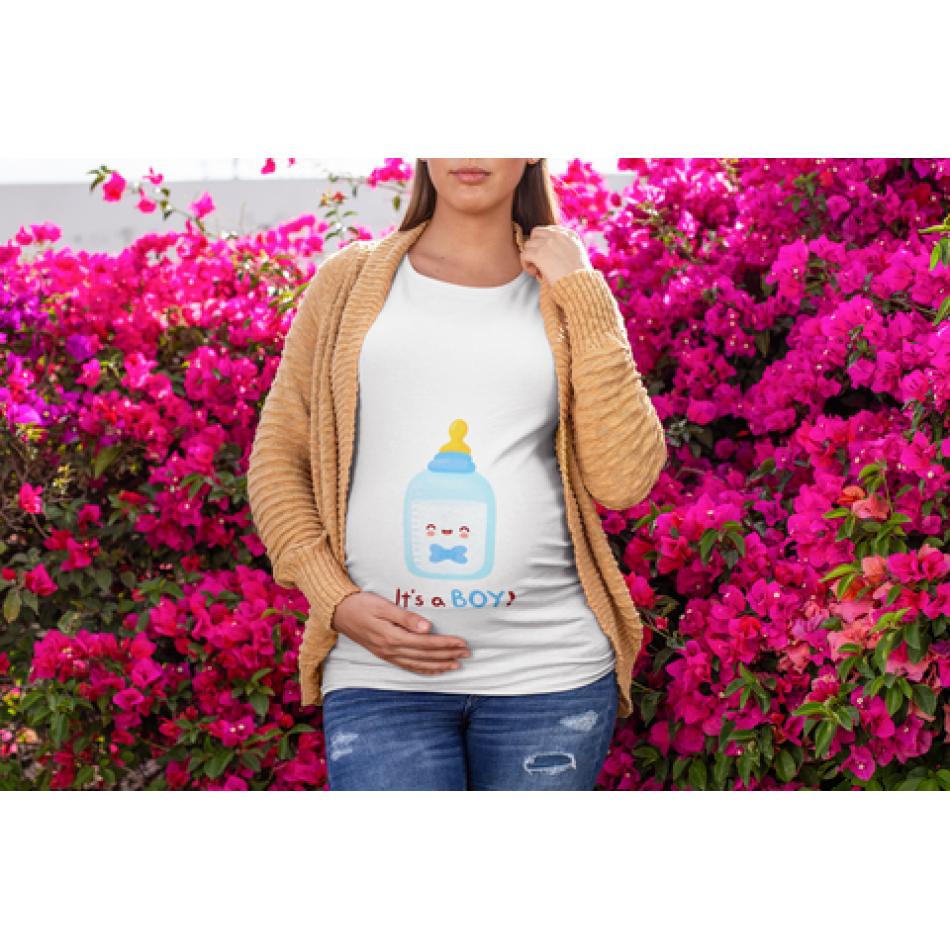 Dámske tričko pre tehotné Bottle Boy