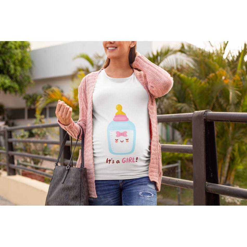 Dámske tričko pre tehotné Pacifier Girl