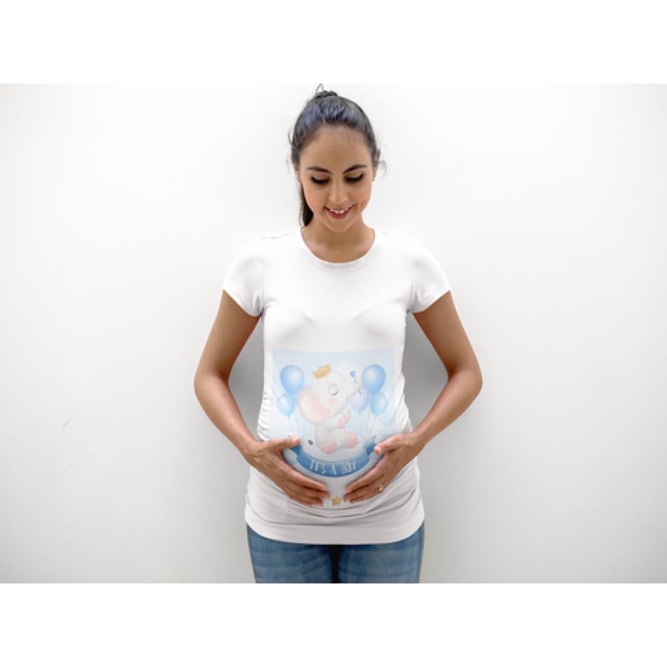 Dámske tričko pre tehotné Elephant Boy