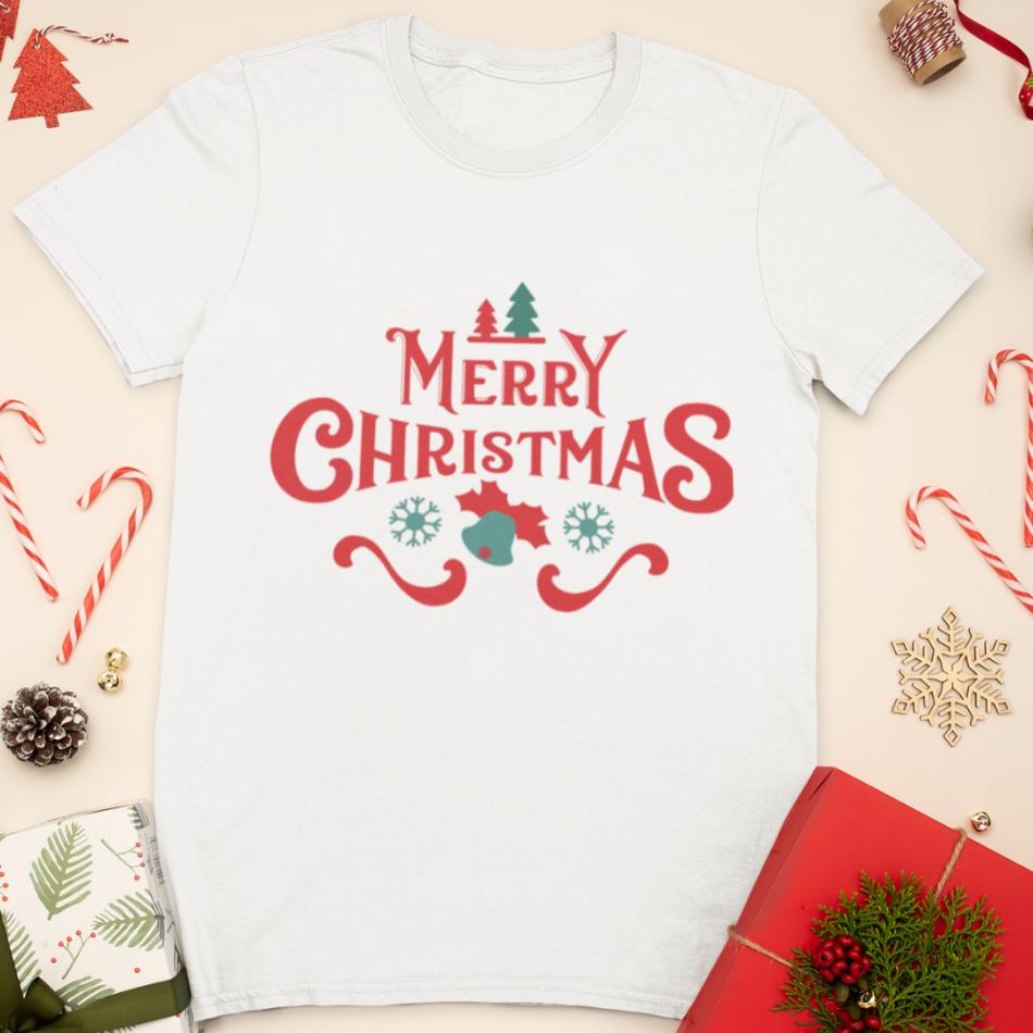 Detské vianočné tričko Merry Christmas