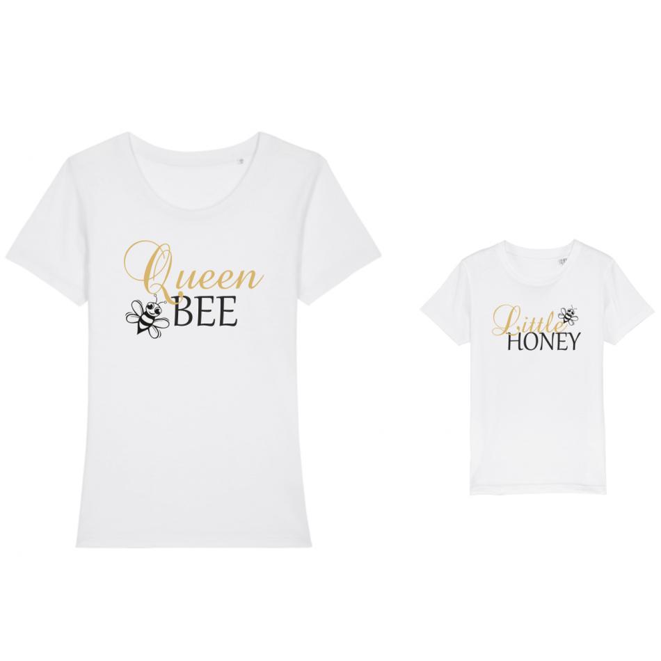 Tričká pre matku a dieťa Bee Queen