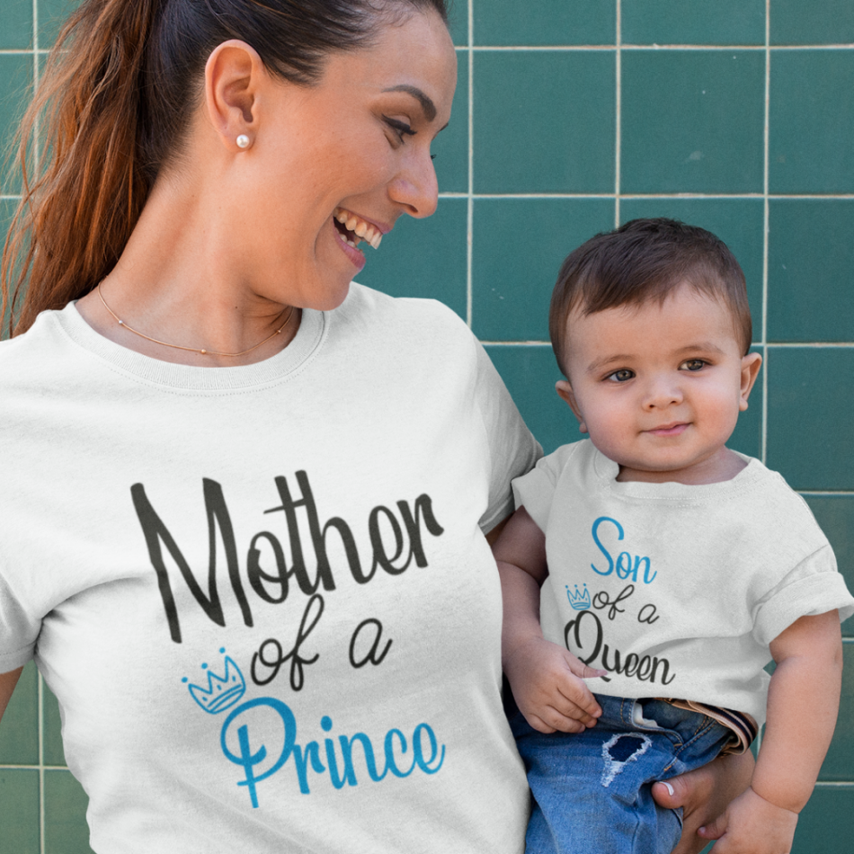 Tričká pre matku a syna Mother of a prince