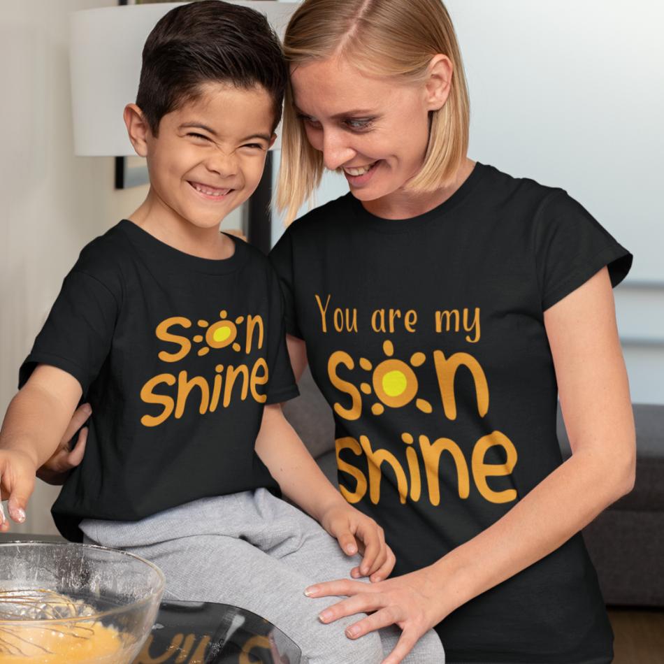 Tričká pre matku a syna Sonshine