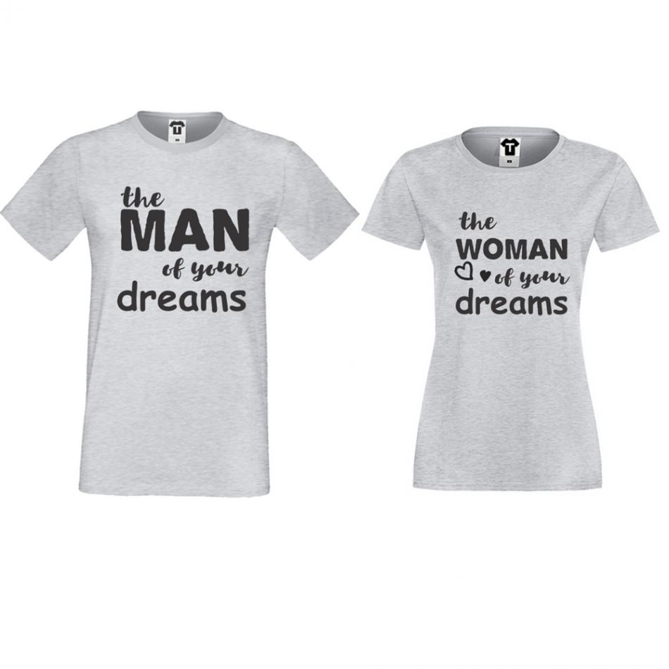 Tričká pre páry The man/The woman of your dreams