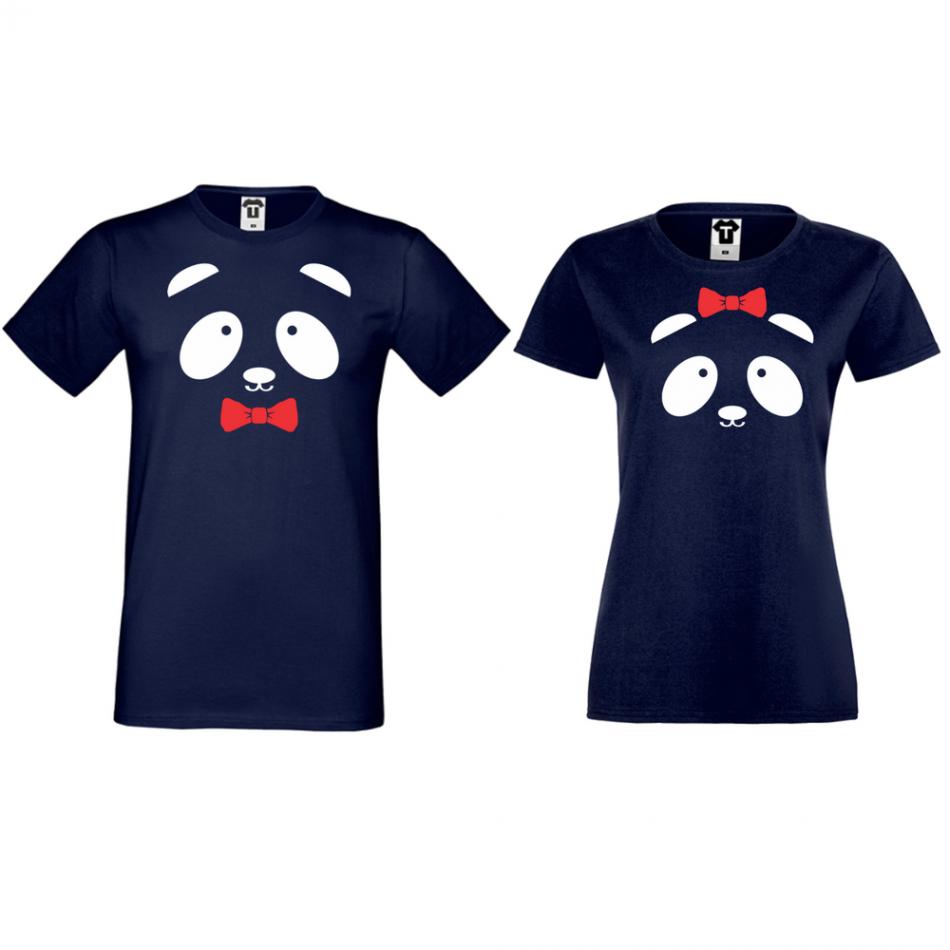 Tričká pre páry Sweet Panda