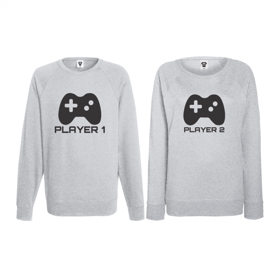 Komplet mikiny bez kapucne pre páry Players (B-CP-052G)