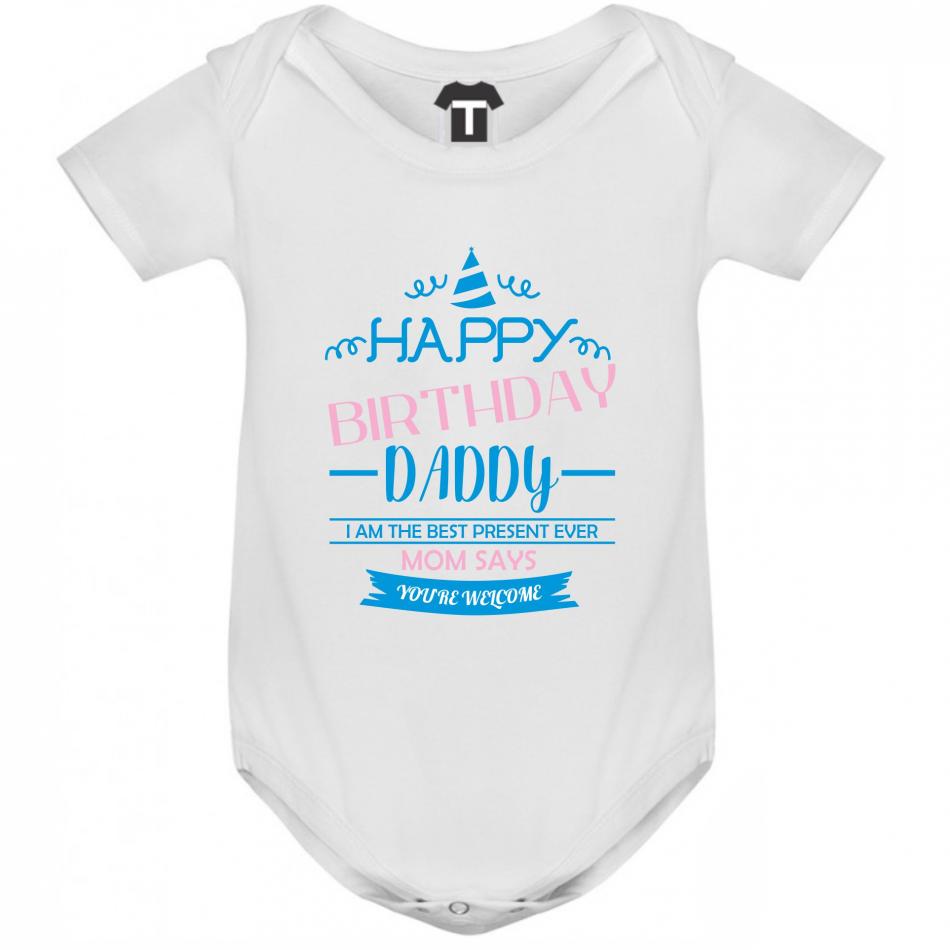 Dojčenské body Happy Birthday Daddy