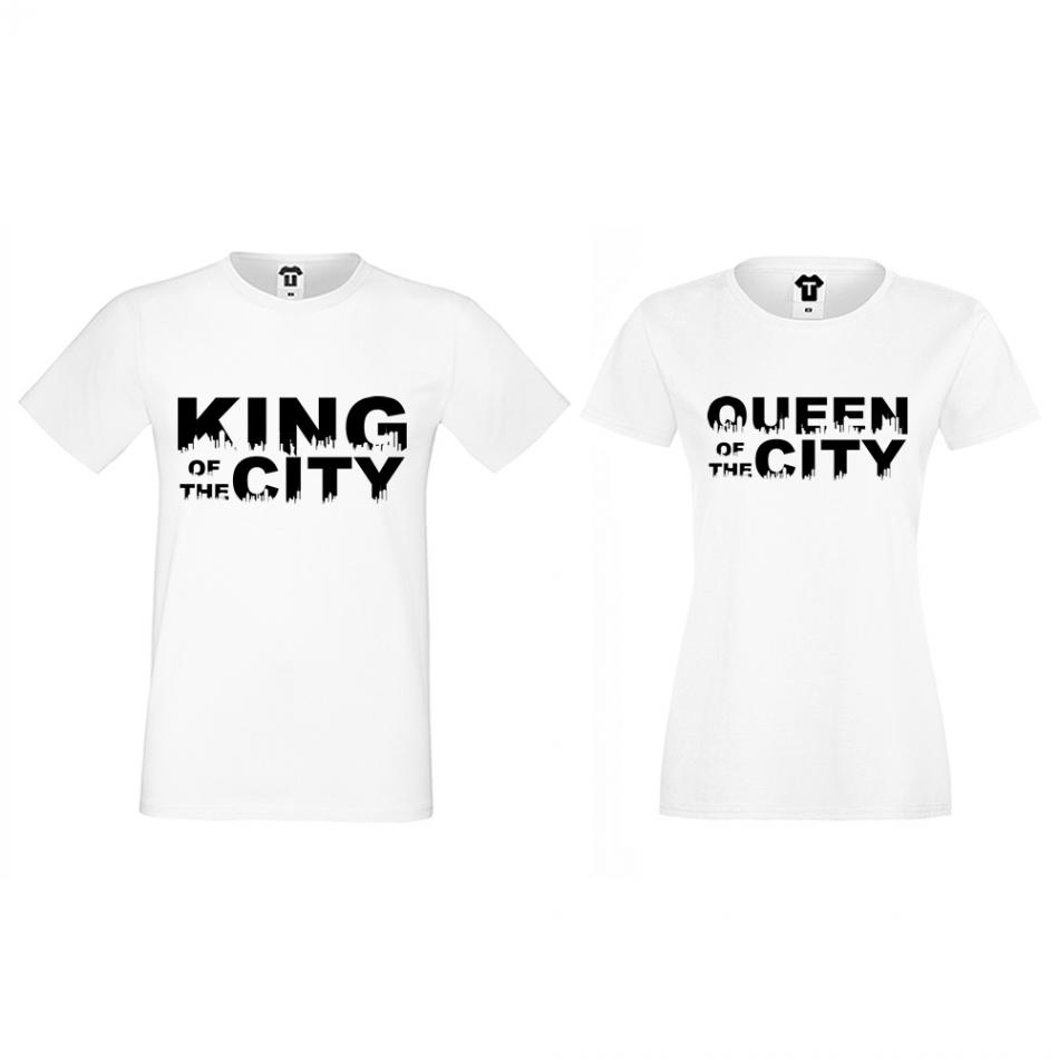 Tričká pre páry King Queen of the city (D-CP-169)
