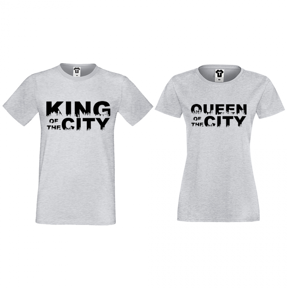 Tričká pre páry King Queen of the city (D-CP-169G)