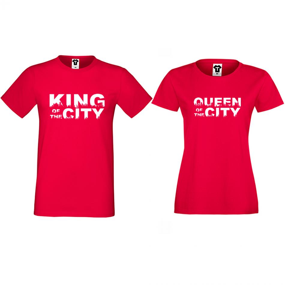 Tričká pre páry King Queen of the city (D-CP-169R)