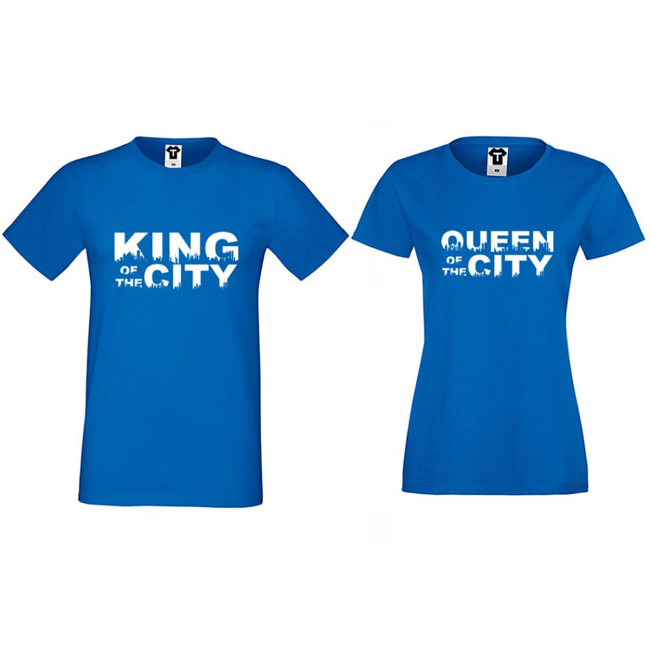 Tričká pre páry King Queen of the city (D-CP-169S)