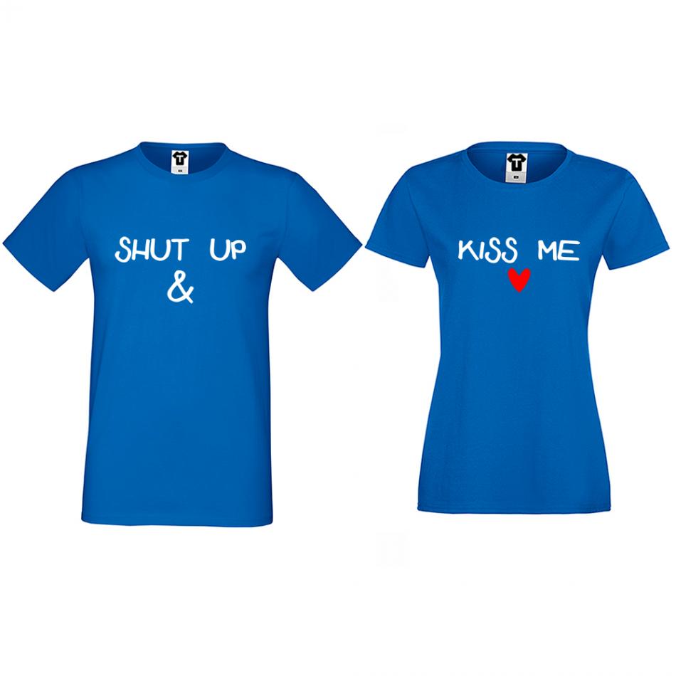 Tričká pre páry Shut up and Kiss me (D-CP-171S)