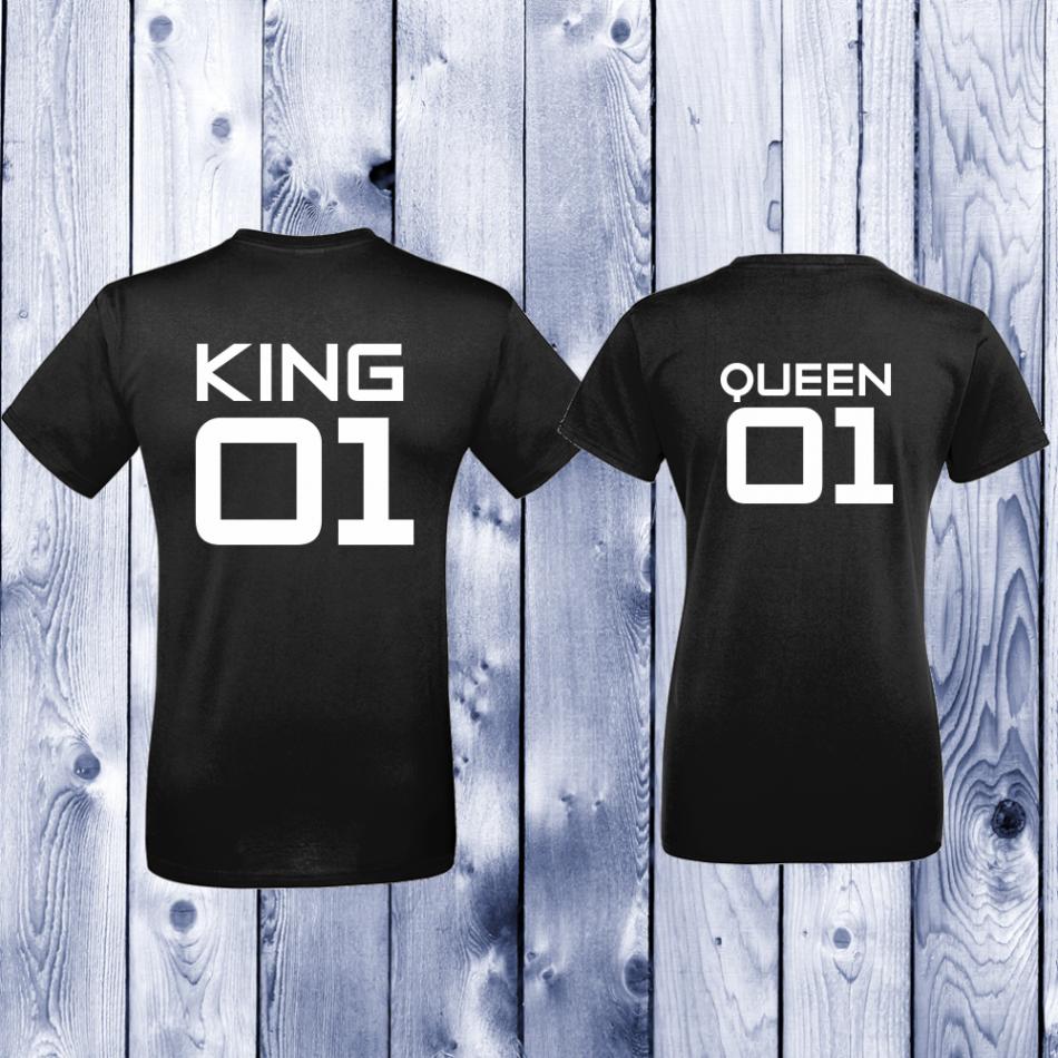 Tričká pre páry King 01 - Queen 01 (D-CP-142B)