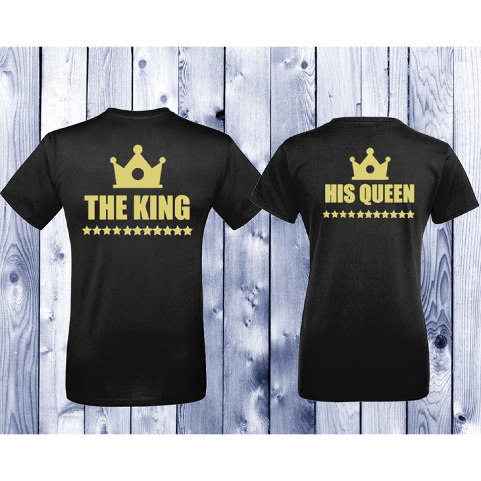 Tričká pre páry King - Queen  (D-CP-002B)