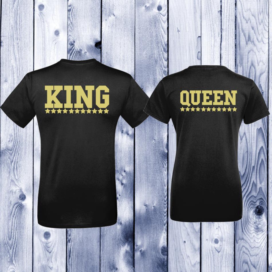 Tričká pre páry King - Queen (D-CP-144B)