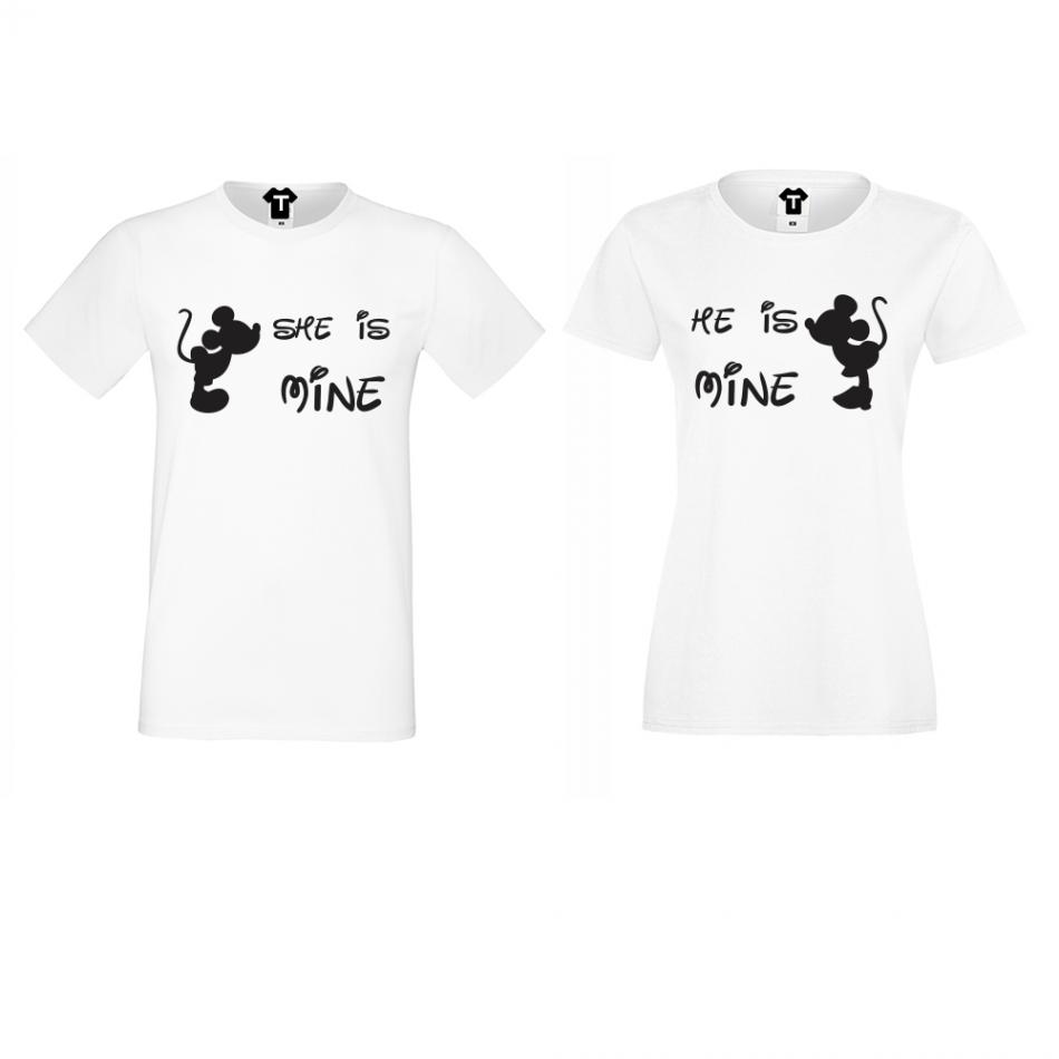 Tričká pre páry She is Mine - He is Mine (D-CP-118)