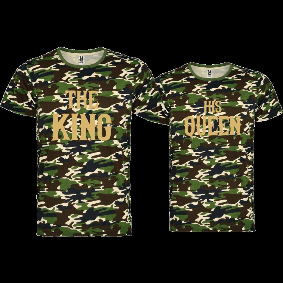 Tričká pre páry THE KING HIS QUEEN (D-CP-147K)