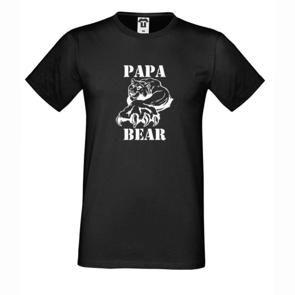 Pánske biele alebo čierne tričko Papa Bear