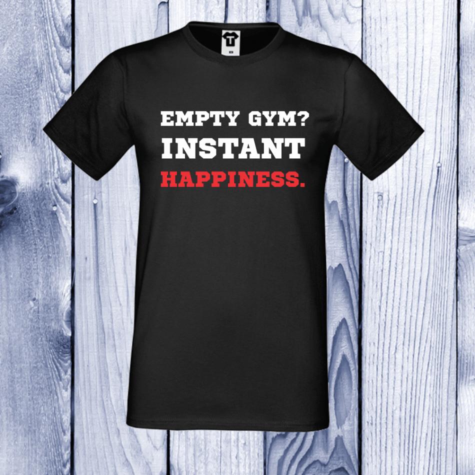 Pánske tričko čierne Empty Gym (D-M-024B)