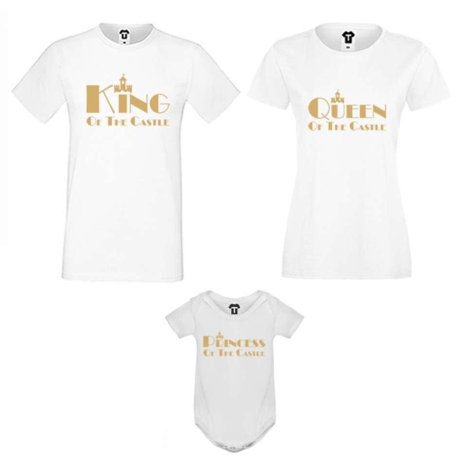 Rodinný setv čierne alebo biele farbe King, Queen and Princess of the castle