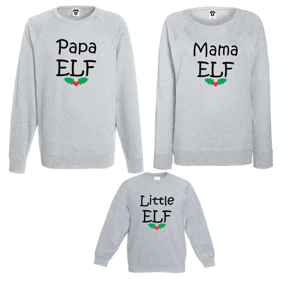 Rodinný set Papa, Mama and Little Elf