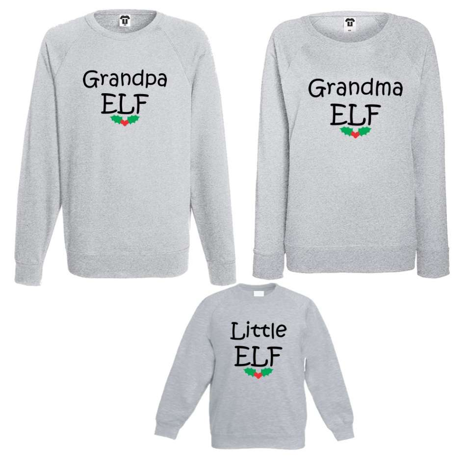 Rodinný set Grandpa, Grandma and Little Elf