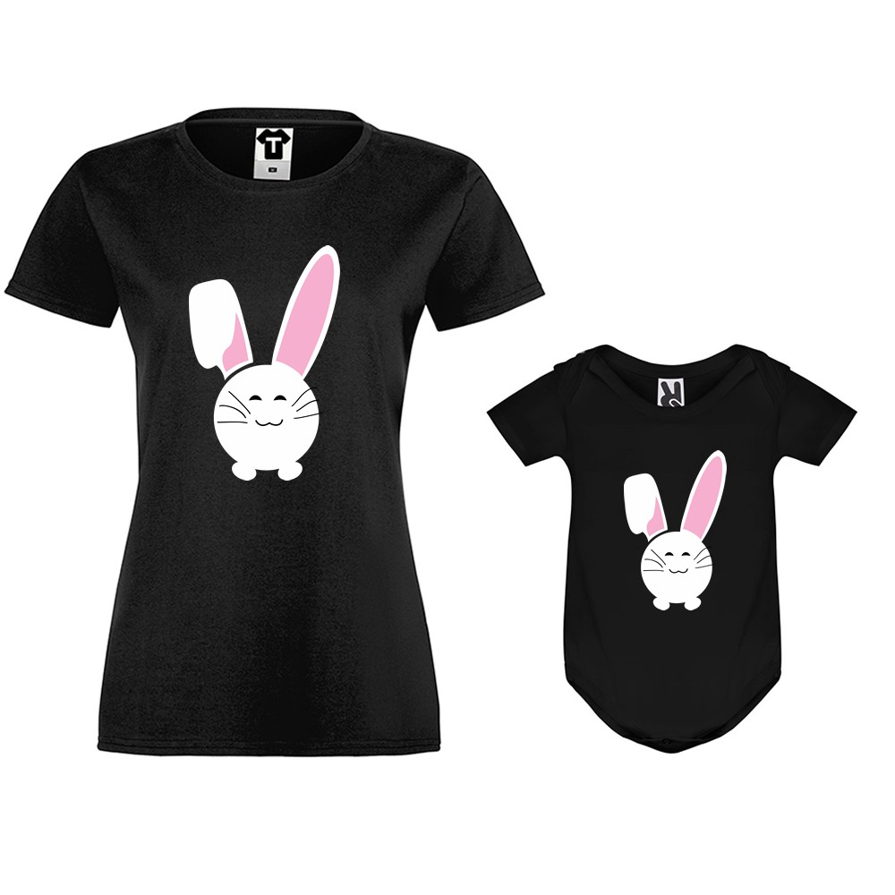 Dámske tričko a detské body Bunny Smile