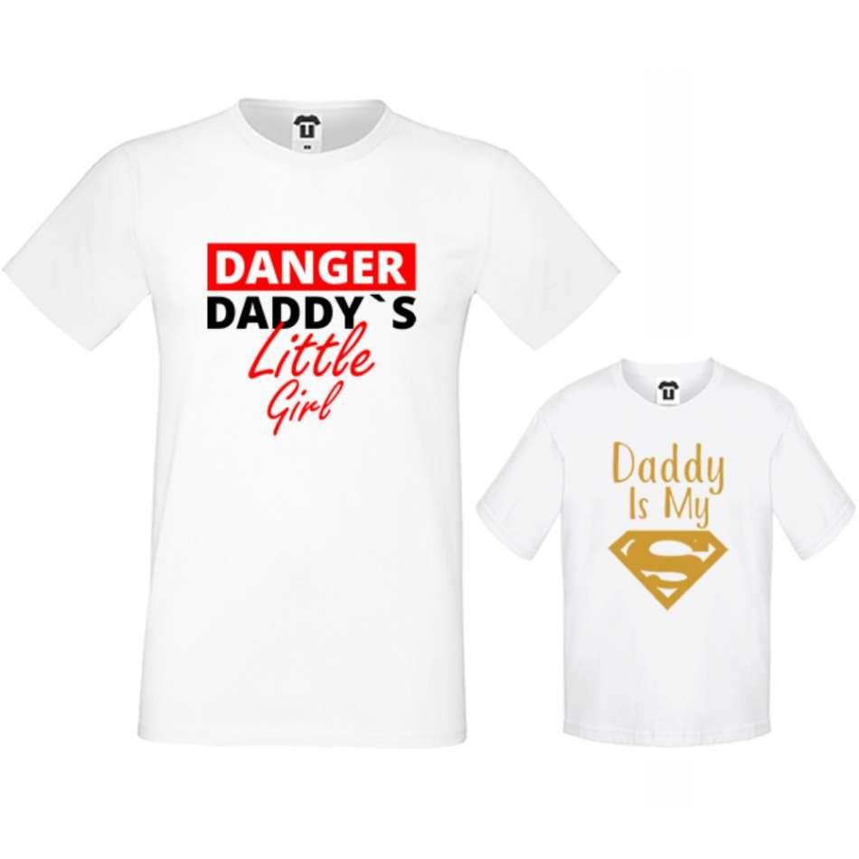 Rodinné tričká v bielej alebo čiernej farbe Daddy's little girl