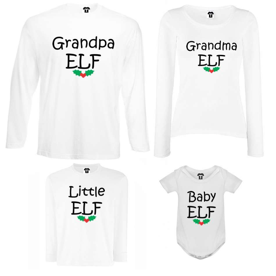 Rodinný set Grandpa, Grandma, Little and Baby Elf