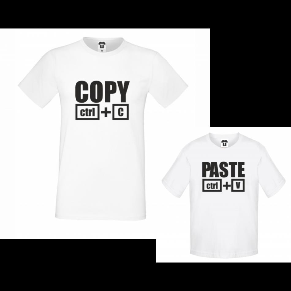 Set pánské tričko a dětské tričko Copy - Paste (D-F2-200)