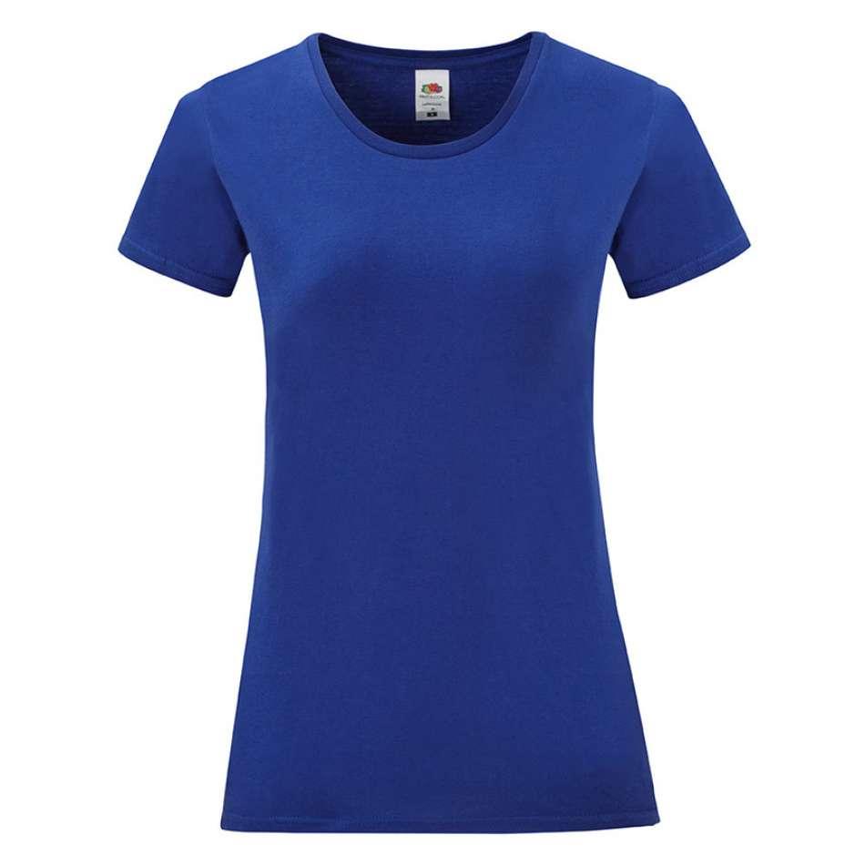 Dámske tričko zo 100% bavlny v tmavomodrej farbe