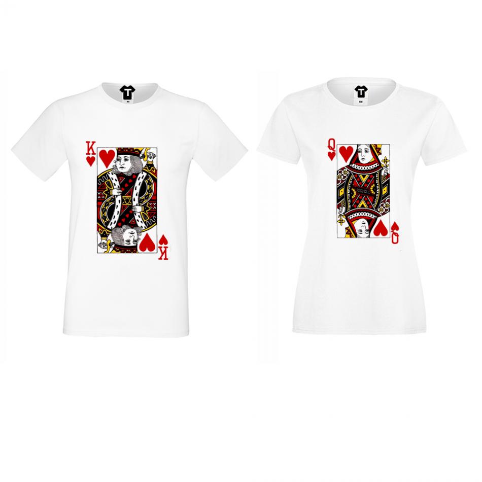 Tričká pre páry King Queen Cards  (P-CP-060)
