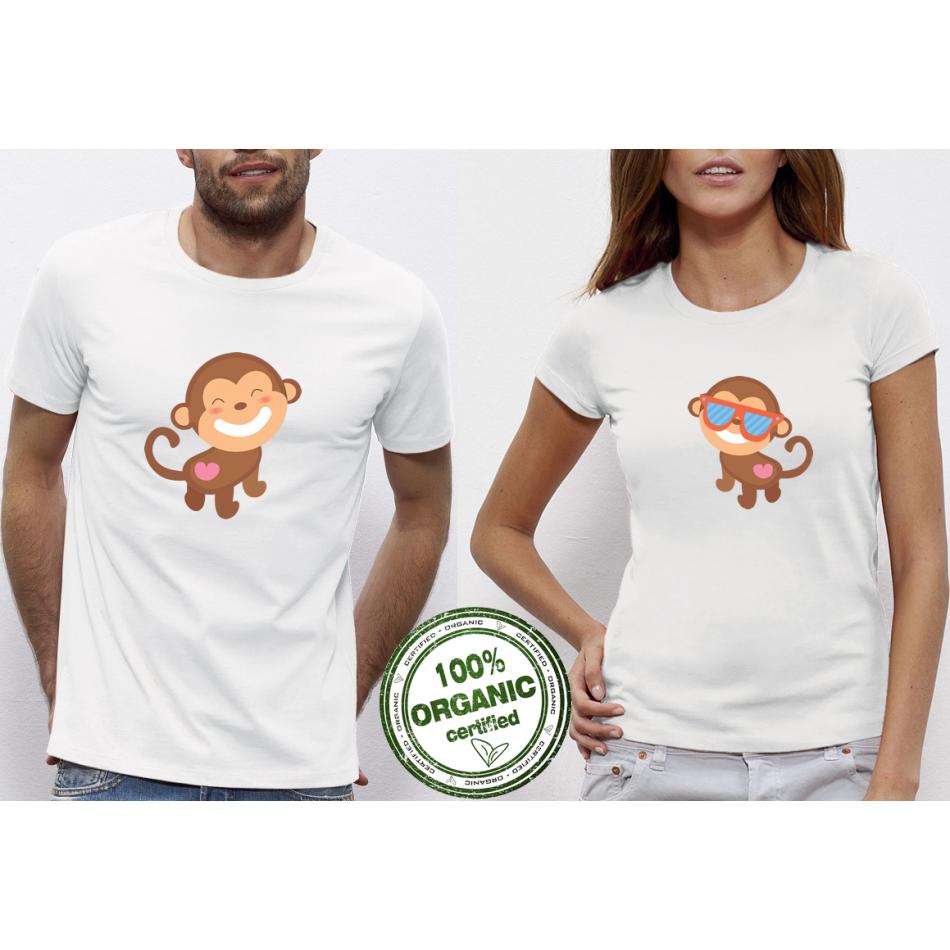 Tričká pre páry Monkey in Love (P-CP-075)