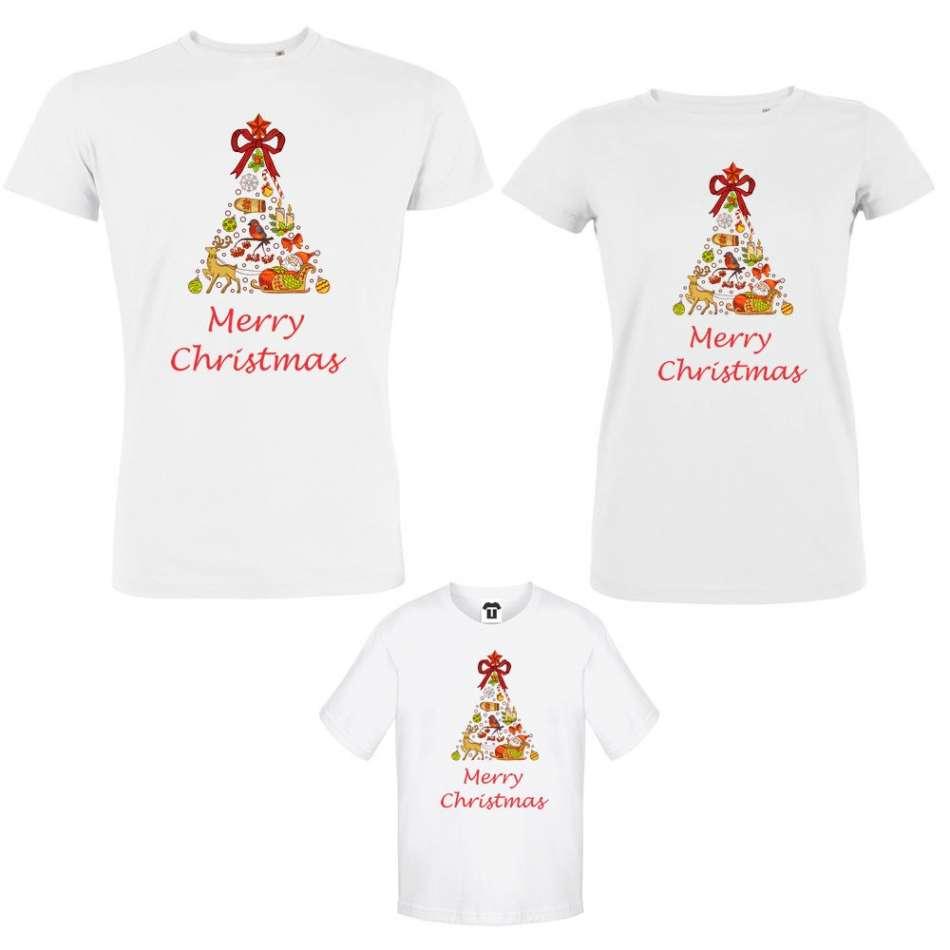 Set mama, otec a dieťa  Merry Christmas Tree