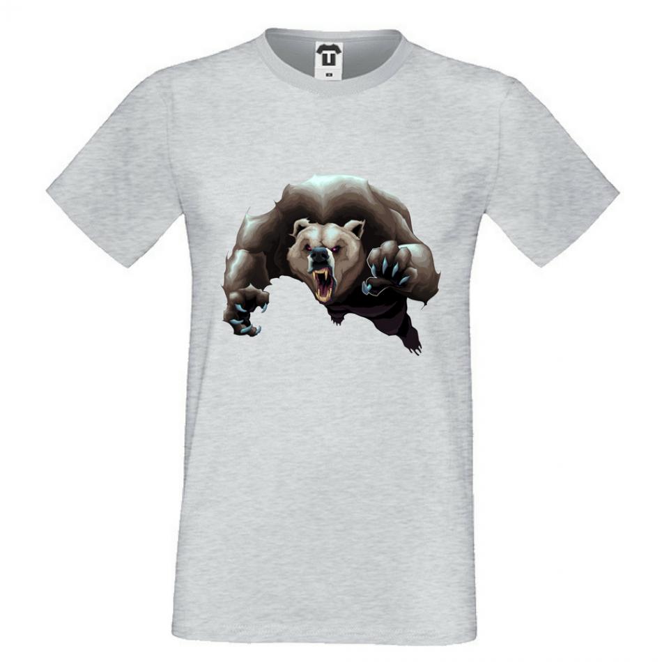 Pánske tričko šedé Angry Bear (P-M-136G)