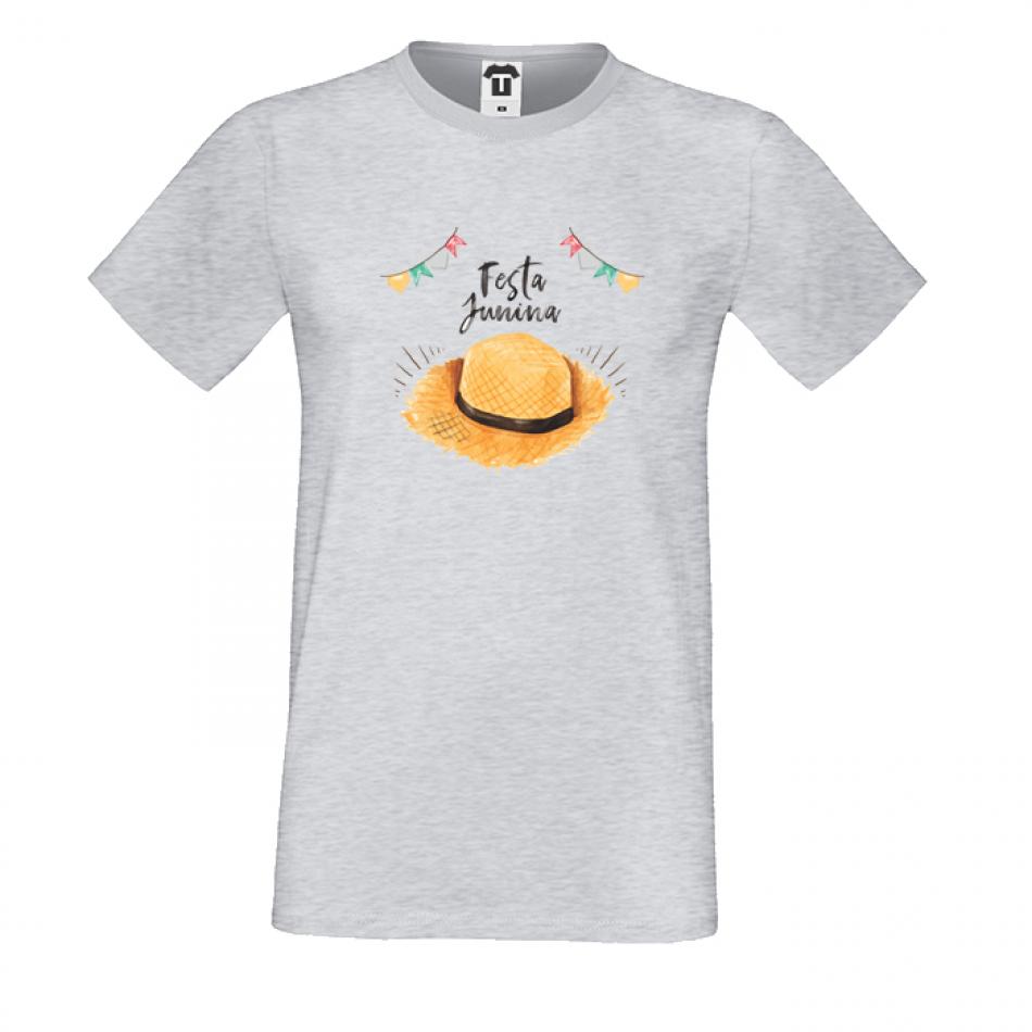 Pánske tričko šedé Festa Junina (P-M-172G)