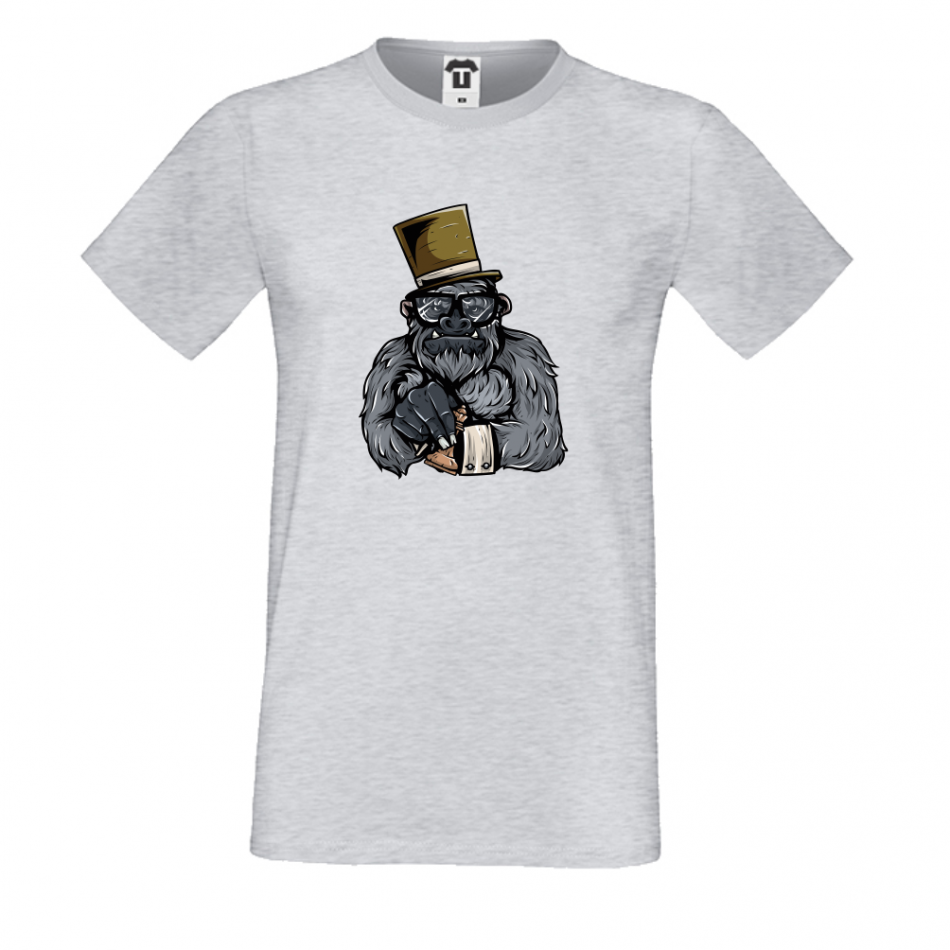 Pánske tričko šedé Monkey (P-M-024G)