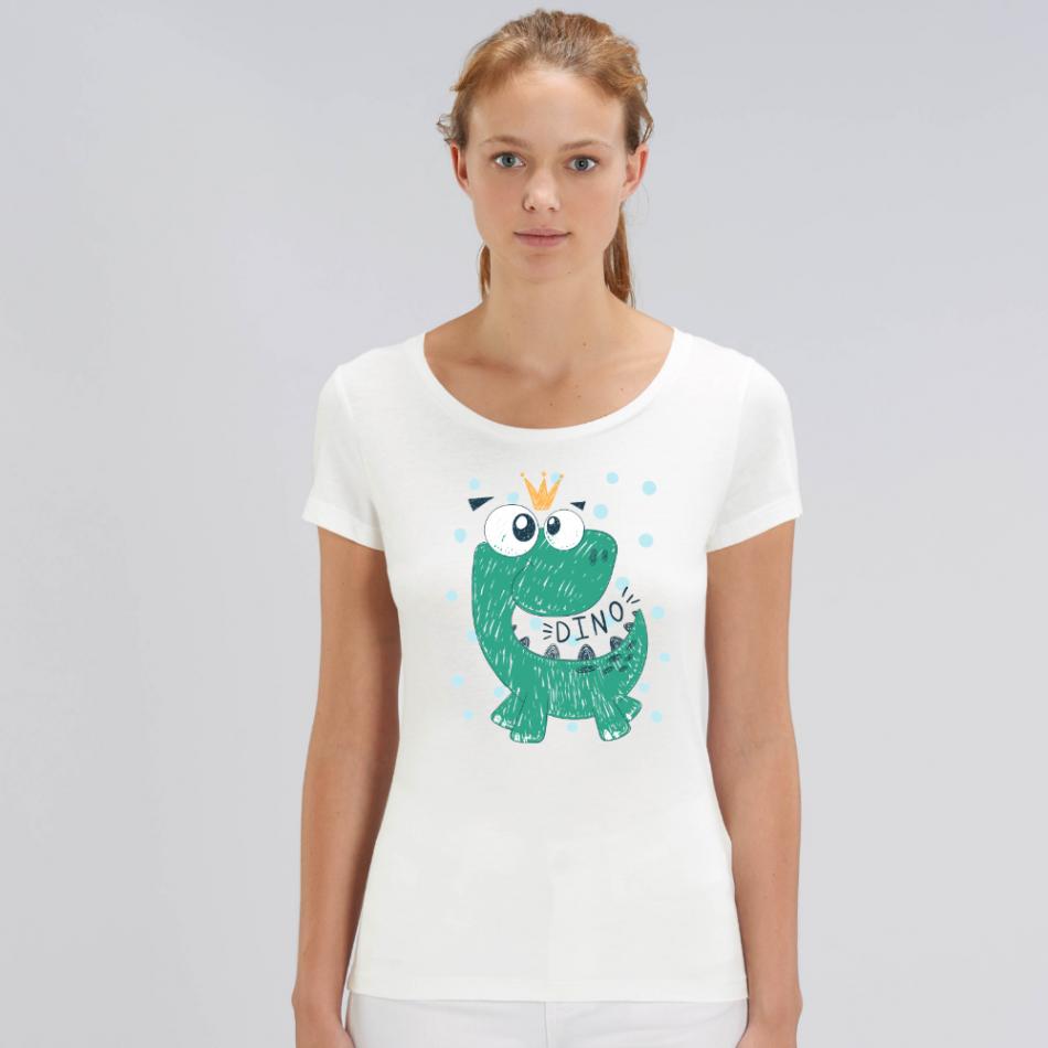 Dámske biele tričko z organickej bavlny Dino