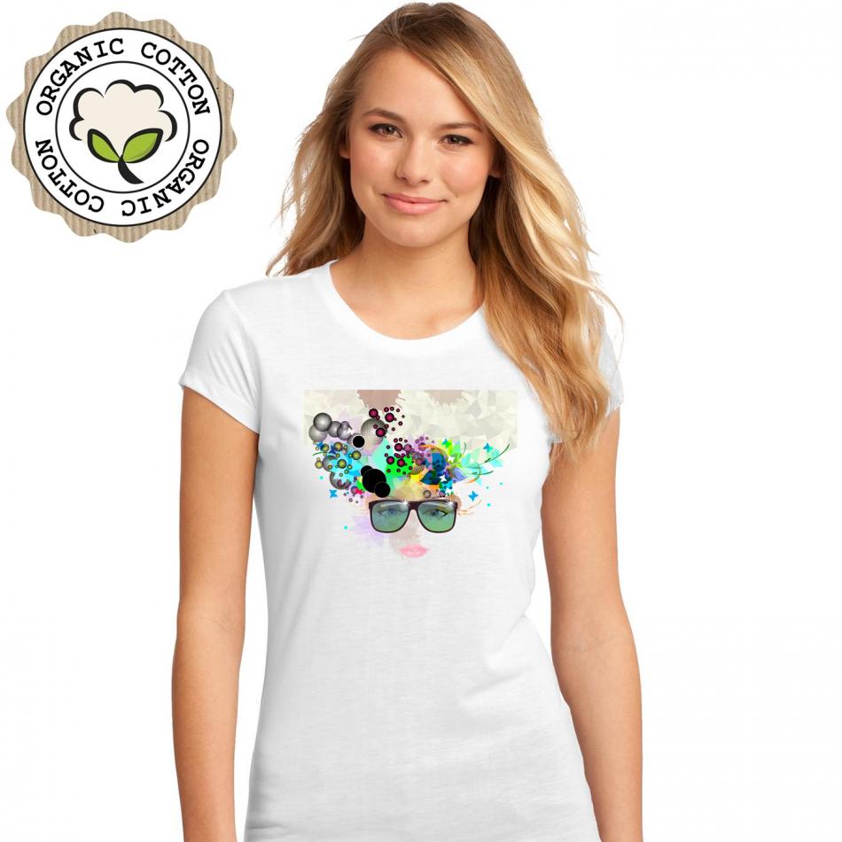 Dámské tričko Bílé Girl (P-W-193)