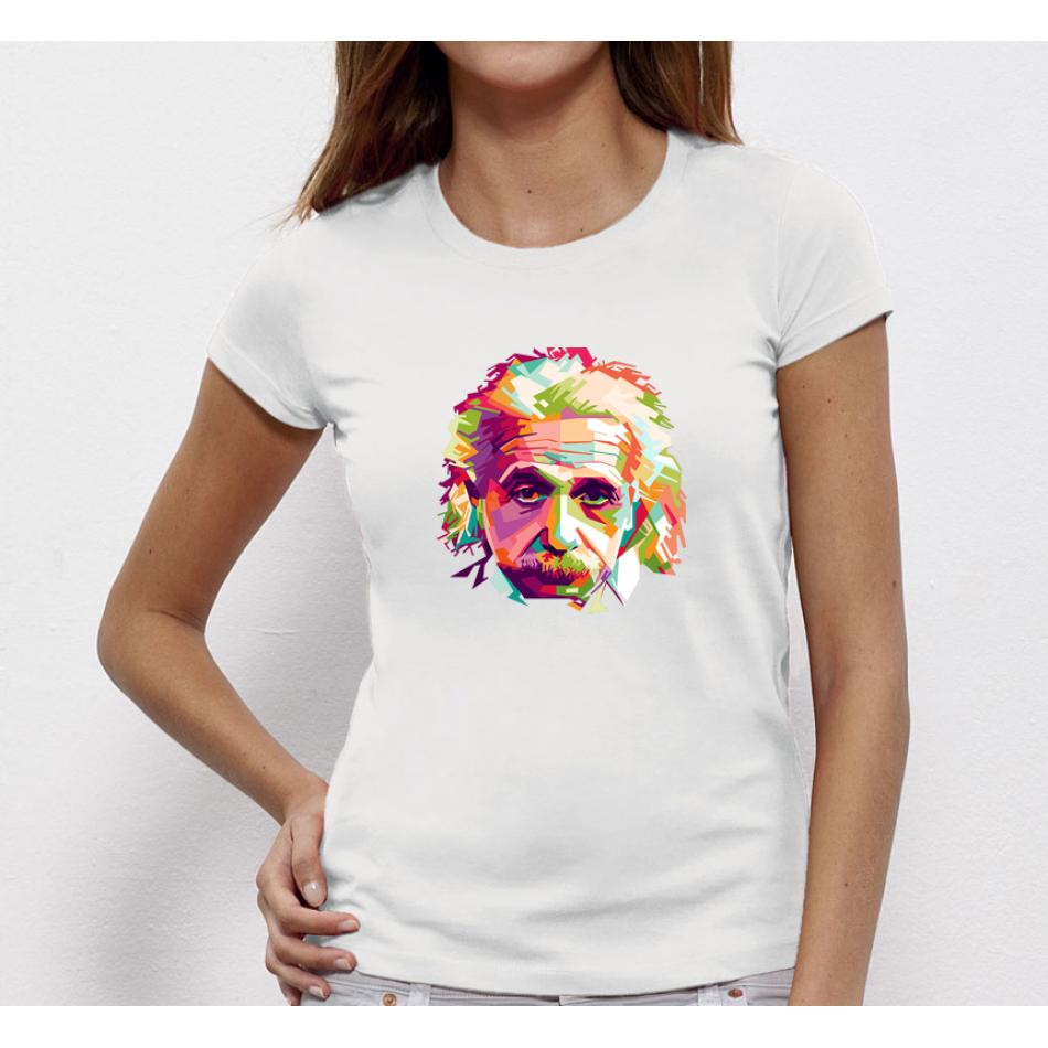 Dámske biele tričko Einstein (P-W-171)
