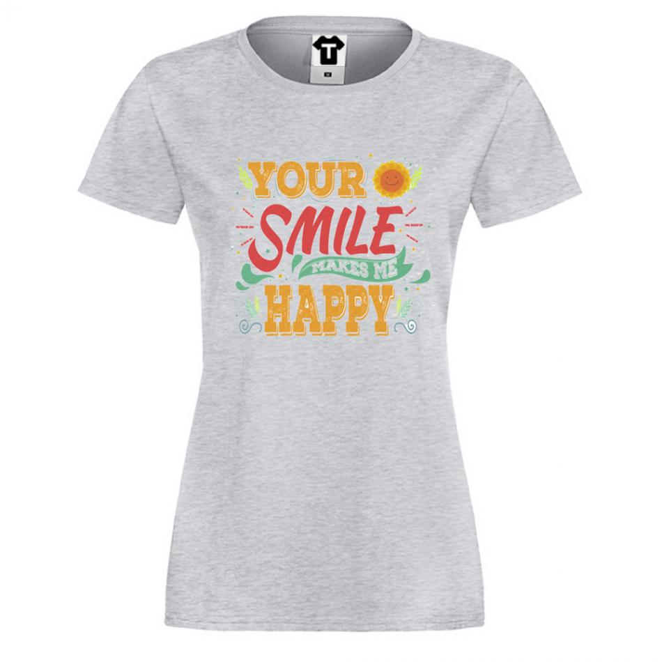 Dámske tričko šedé Your Smile (P-W-162G)