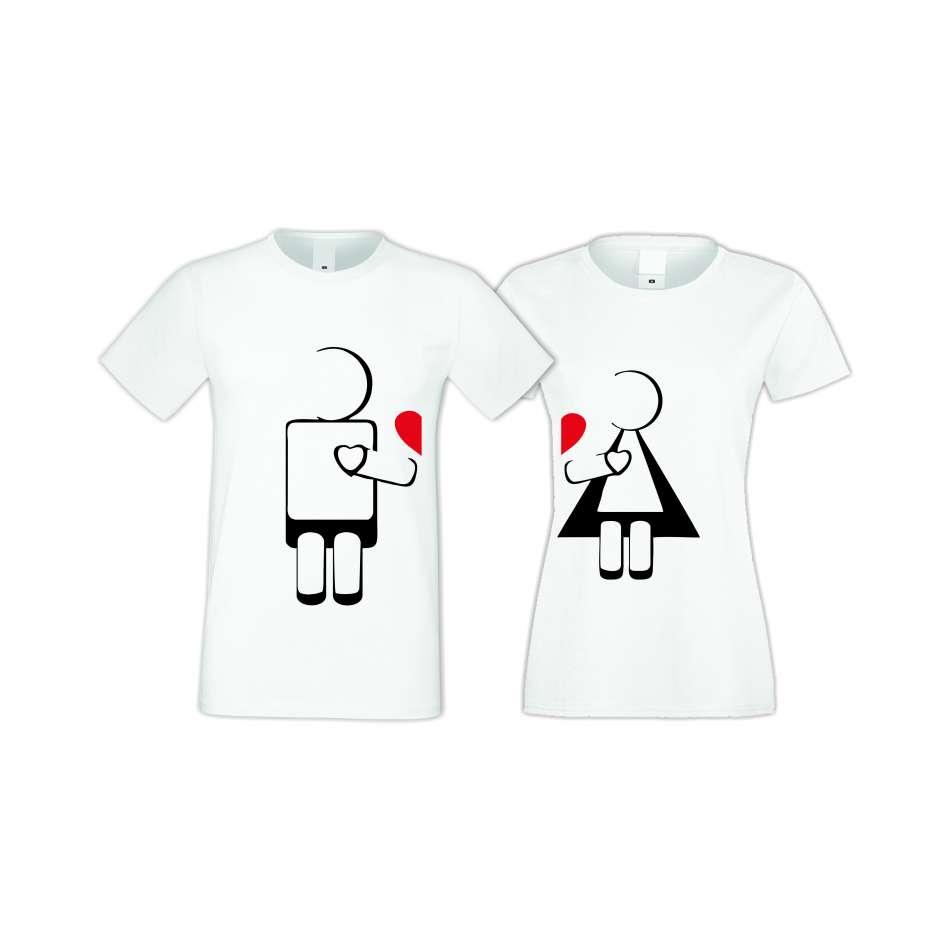 Tričká pre páry ROBOT LOVE  (S-CP-022)