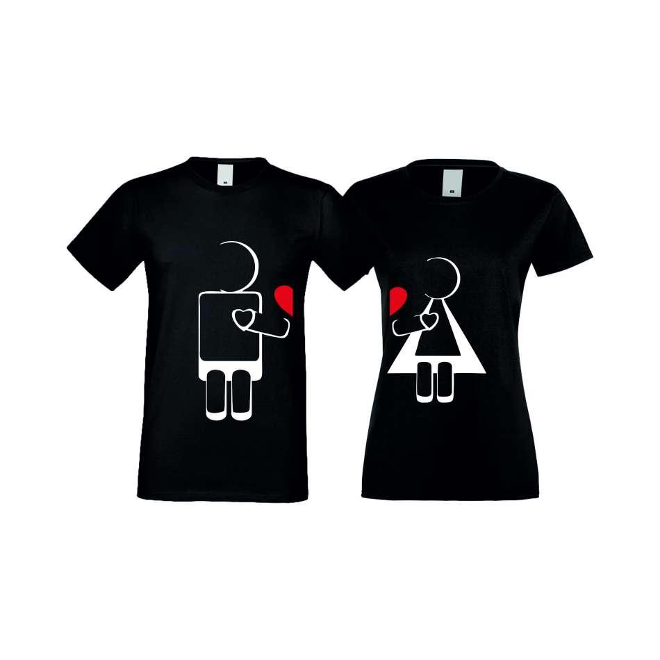 Tričká pre páry ROBOT LOVE (S-CP-022B)