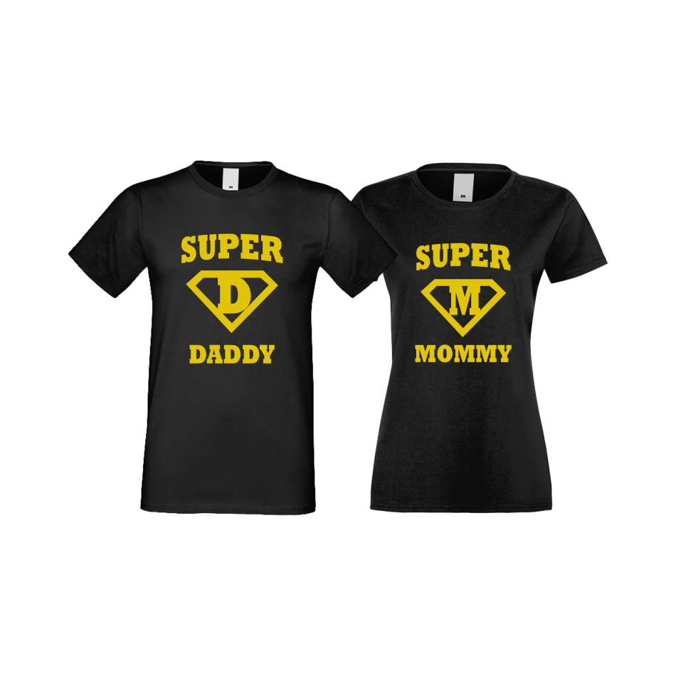 Tričká pre páry SuperDaddy - Super Mommy (S-CP-115B)