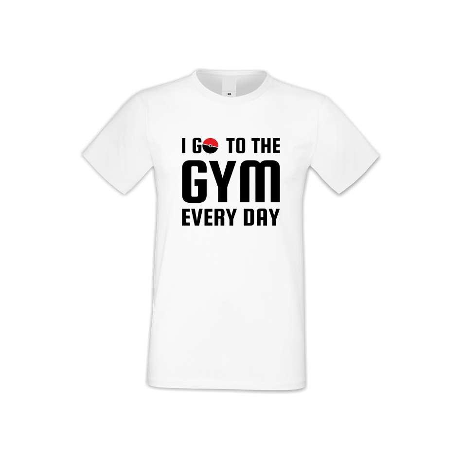 Pánske tričko I Go To the Gym  (S-M-FIT-013)